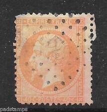 FRANCE 1863 40c pale orange  Napoleon ANCHOR  Ship cancel vf used SG 120