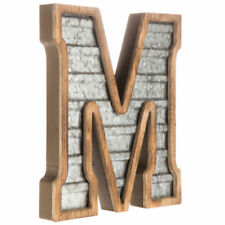 LARGE Wood & Galvanized Metal Letter - M Marquee sign Wall Decor Garage Office