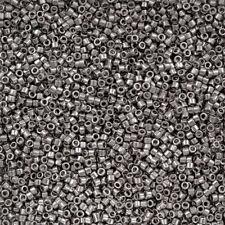 Miyuki Delica Size 11/0 Seed Beads DB038 Palladium Plated 8.2g (R30/1)