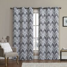 Set of 2 100% Polyester Blackout Curtains,Marlie Woven Jacquard Insulated Panels