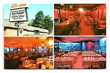 Vintage Postcard Luau Hale Polynesian Chinese Restaurant Lenox Massachusetts