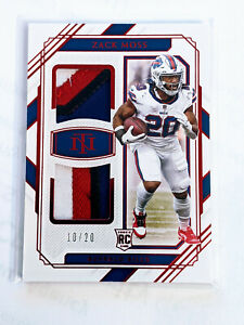 ZACK MOSS 2020 NATIONAL TREASURES DUAL PATCH ROOKIE #10/20
