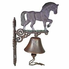 Horse / Mare Shire Bell Farm Cast Iron Sign Plaque Door Wall Stable House Porch