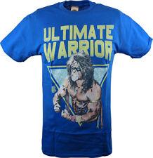 Ultimate Warrior Pose WWE Mens Blue T-shirt
