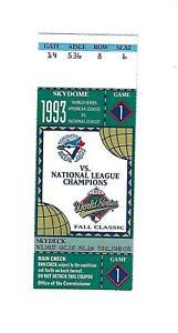 1993 WORLD SERIES TICKET - TORONTO BLUE JAYS VS. PHILADELPHIA PHILLIES - GAME 1