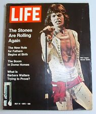 LIFE MAGAZINE - July 14, 1972 - The Stones Are Rolling Again - Mick Jagger Cover