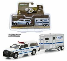 Greenlight 1:64 HITCH & TOW SERIES 4 - 2014 RAM 1500 & HORSE TRAILER NYPD Truck
