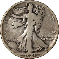 1921-P Walking Liberty Half Choice VG Key Date Superb Eye Appeal Strong Strike
