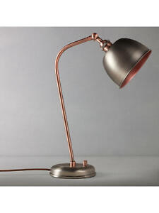 JOHN LEWIS BALDWIN  DESK LAMP PEWTER/COPPER