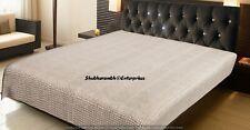 Grey Diamond Print Handmade Queen Quilts Ethnic Bedding Bedspread Throw Blanket