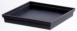 Soucoupe plastique Toscane Eda - Pour pot carré 22 l - Anthracite