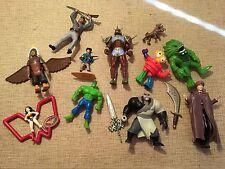 11 PLAY TOY FIGURINES - Super Hero / Villain Hulk Voldemort Monster Alien Lot