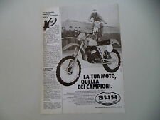 advertising Pubblicità 1981 MOTO SWM RS 250 GS TF1