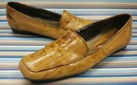 BASS TIVOLEE FLATS SLIP ON LOAFERS DISTRESSED BROWN LEATHER WOMENS SHOES 5.5 M