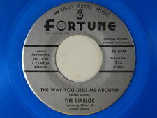 The Diablos (a cappella blue wax 45) THE WAY YOU DOG ME AROUND /JUMP ~Fortune VG