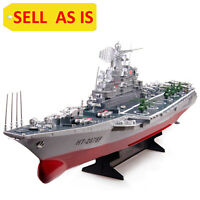 """SELL AS IS Challenger Aircraft Carrier Battleship RC Model Boat 30"""" Warship Used"""