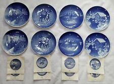 New ListingSet of 8 Bing & Grondahl Denmark Blue Christmas Plates 1965, 1966, 1967, 1968