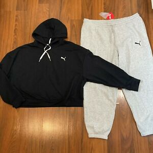 Puma Women's Hoodie Sweater Pants 2pc Set Size XL Tracksuit New
