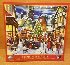 SunsOut CHRISTMAS STREETS 1000 Oversize Piece Puzzle, 9813607, Excellent