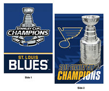 St. Louis Blues 2019 STANLEY CUP NHL CHAMPIONS Premium 2-Sided 28x40 BANNER Flag