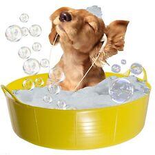 YELLOW Dog Bath, cane Piscina per bambini, Doggy Pool, Flexi poco profonde 35L RACCOGLI Pet