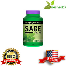 SAGE 1600 mg ANTIOXIDANT IMMUNE BONES HEALTH HERB NUTRITION SUPPLEMENT 180 CAPS