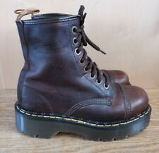 DR MARTENS RARE MADE IN ENGLAND PLATFORM RUSTIC BOOTS , SIZE 5 , GOOD CONDITION