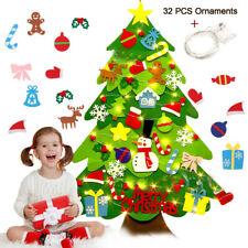 Albero Di Natale In Feltro Fai Da Te Per Bambini Ornamenti Con Luci Decorazioni