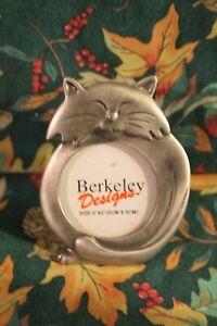 PICTURE Photo FRAME Pet CAT Feline KITTY Pussy TABBY Pewter METAL Berkeley 2 x 2