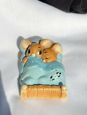 """Pendelfin Studio Made In England """"Twins� Two Mice or Bunnies in bed 906248"""
