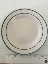 Saucer vintage Gibson China retro diner restaurant white 2 green stripes rings