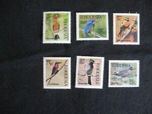 Rhodesia: 1974 Native Birds Set MNH
