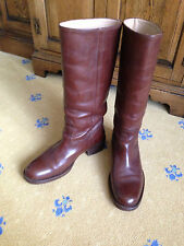 GUCCI MEN'S BROWN LEATHER RIDING WALKING TALL BOOTS UK 8 US 9 EU 42 EQUESTRIAN