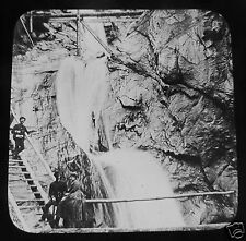Glass Magic lantern slide FALLS CHEYENNE CANON COLORADO C1890 USA AMERICA