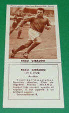 FOOTBALL BISCUITS REM 1958 RAOUL GIRAUDO STADE REIMS DELAUNE AGEDUCATIFS PANINI