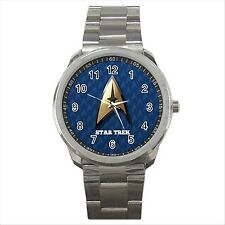 NEW* HOT STAR TREK Blue Quality Sport Metal Wrist Watch Gift