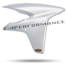 NEW HONDA TRX 450R 06 - 14 WHITE CARBON FIBER PLASTIC STOCK RADIATOR AIR SCOOPS