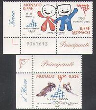 Monaco 2006 Winter Olympics/Sports/Olympic Games/Skiing/Mascots 3v set (n38299)