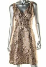 RALPH LAUREN NEW Vintage Gold  Sleeveless Cocktail Dress Size 8, or Small