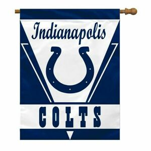 """INDIANAPOLIS COLTS NFL 28""""X40"""" VERTICAL BANNER HOUSE FLAG W/ SLEEVE FREE SHIP"""