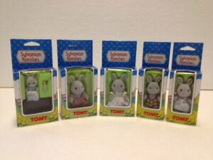 Rabbit Sylvanian Family. Unused and boxed. Rare 80's vintage TOMY