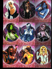 Marvel Dangerous Divas series 2 Sultry Seductress 9 card set