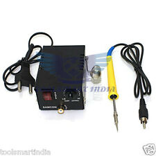 Micro SMD Soldering Iron Adjustable Temperature Station + Built In Stand + Pen