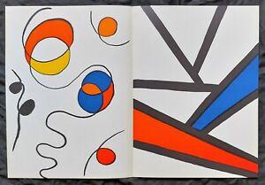 """Alexander Calder-  Derriere le Miroir no.173 Double Page 15"""" x 22"""" Lithograph"""