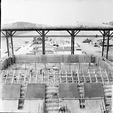 RHINAU c. 1960 - Chantier de la Centrale  Bas Rhin - Négatif 6 x 6 - N6 GE17