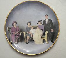 """Royal Family Princess Diana """"Four Generations"""" Crown Winsor China Dinner Plate"""