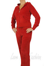 Womens Velour Tracksuit Brand New Full Suit Red Size 12