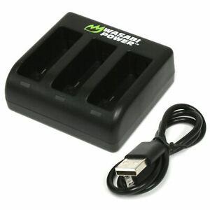 Wasabi Power TRIPLE Slot USB Battery Charger for GoPro HERO8/HERO7/HERO6/HERO5