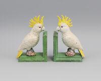 9973144-ds Hierro Escultura Figura Soporte de Libros Kakadu Colorido 8x11x17cm