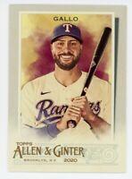 2020 Topps Allen & Ginter #261 JOEY GALLO Texas Rangers BASE BASEBALL CARD